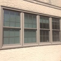 gray double hung windows