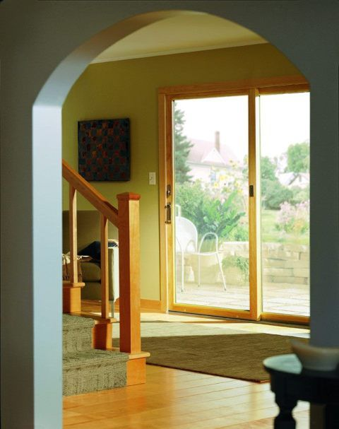 Contemporary Narroline Gliding Door